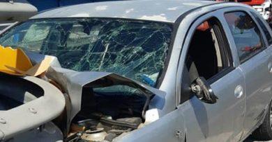 Incidente stradale . un ferito grave