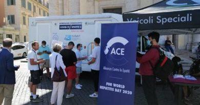 Test congiunti Epatite C e Covid-19 a Roma.L'ambulatorio mobile farà prossimamente tappa in Lombardia e in Campania
