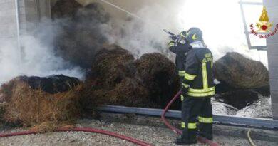 incendio rimessa agricola a Villa S. Lucia a Frosinone