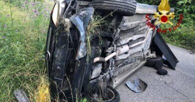 Incidente stradale sulla SP163 nel comune di Falerna per incidente stradale.